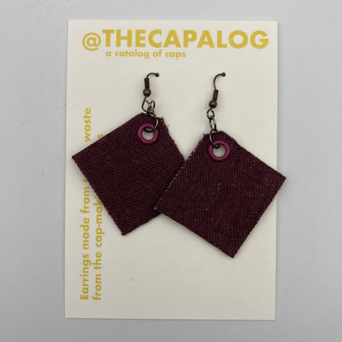 Plum/Magenta Eyelet Offcuts Earrings