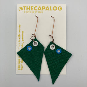 Green/Blue/White Earrings