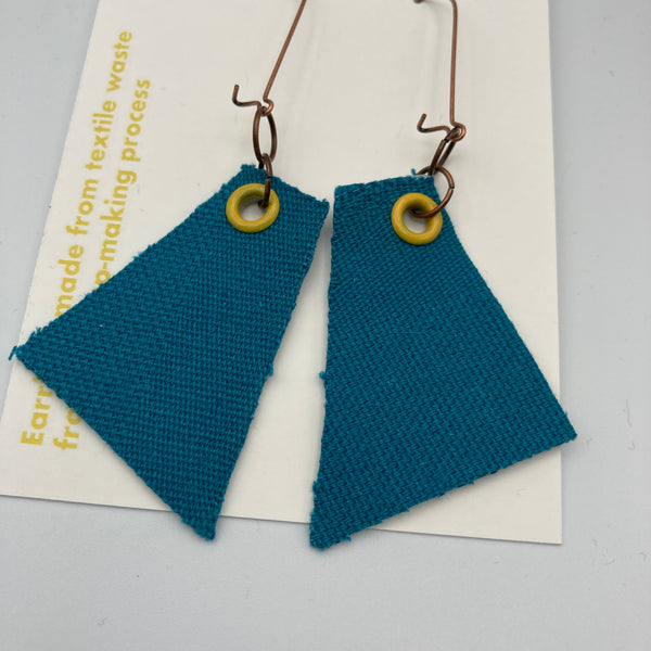 Teal/Yellow Earrings