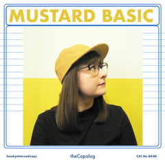 Mustard basic cap available in 7 sizes, £35 inc p&p