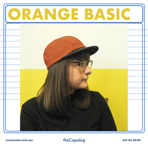 Orange & Charcoal Basic Cap