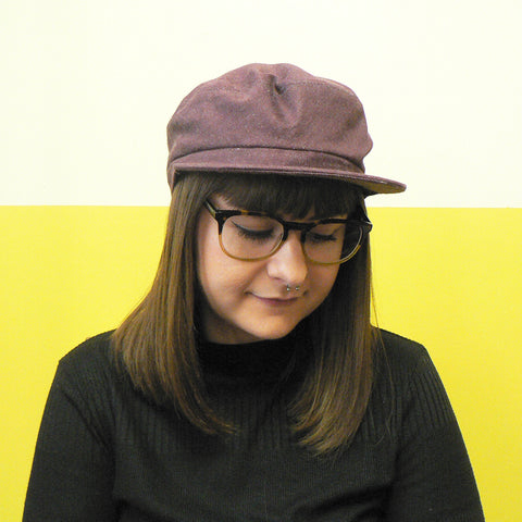 Plum Denim Fisher Cap
