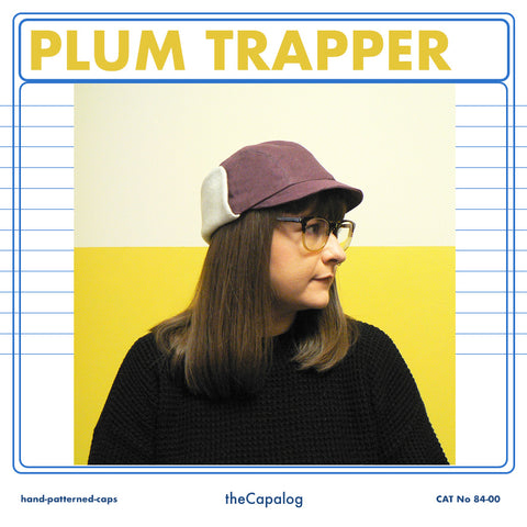 Plum Denim Trapper Cap