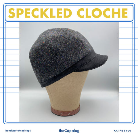 Speckled Wool Cloche Cap