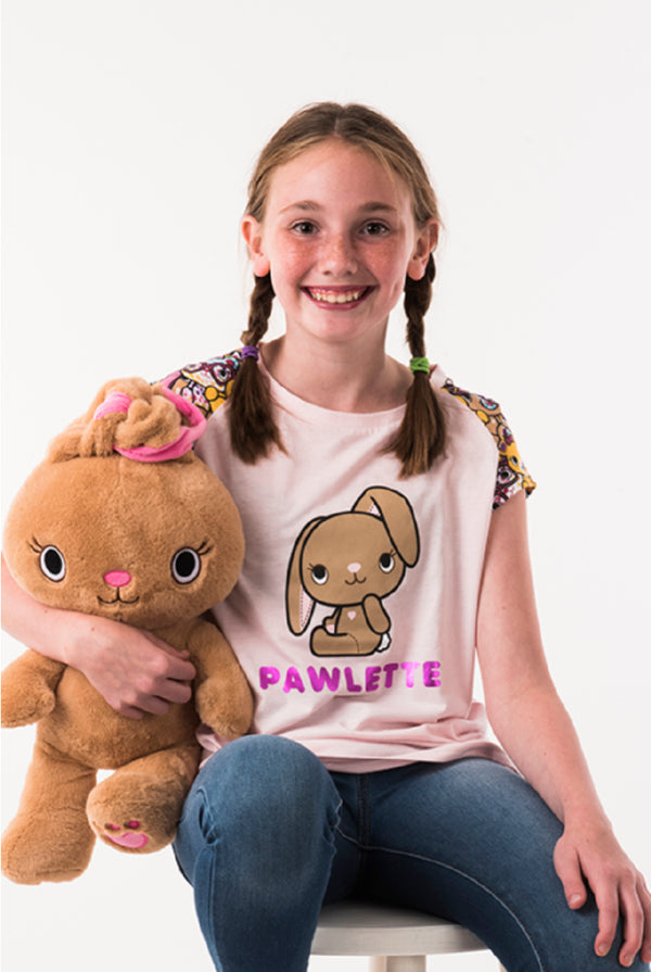 Pawlette Girls Club Tee - Build-A-Bear Apparel and The Kabu Crew