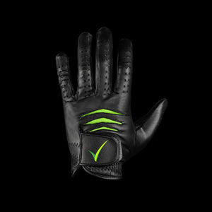 Through Touch Golf Glove Black Front view