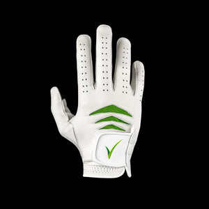 Through Touch Golf Glove White Front view