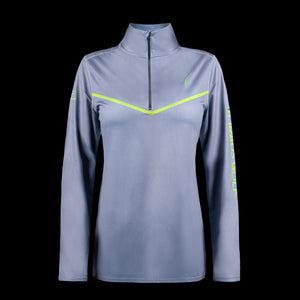 Front view of womens  repreve pullover Grey