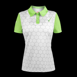 front view womens headsweats voraus golf polo white
