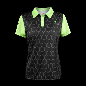 Front view womens headsweats voraus golf polo Black