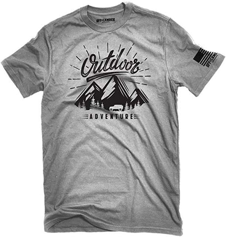 Outdoor Adventure T-Shirt Jeep Outline Cotton Offroad 4x4