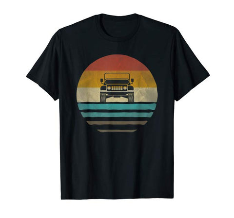 Vintage Jeep Shirt Retro 70s Sunset