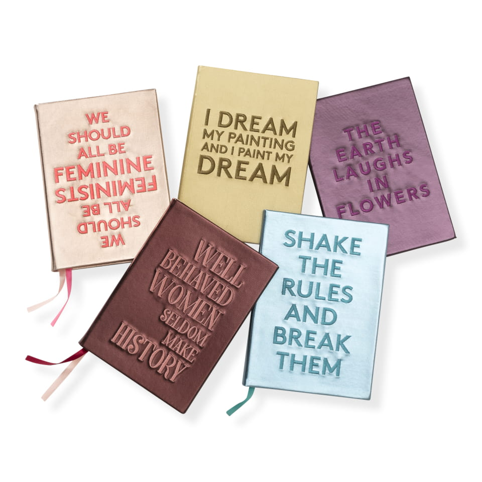 "Embroidered quote notebook - ""Feminists"""