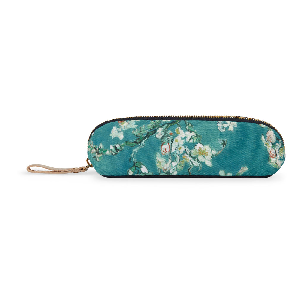 Nylon-velvet pencil case - Almond blossom