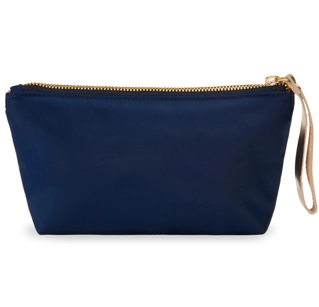 Velvet satin-nylon pouch - Girl Dressed in Blue - BIEN moves