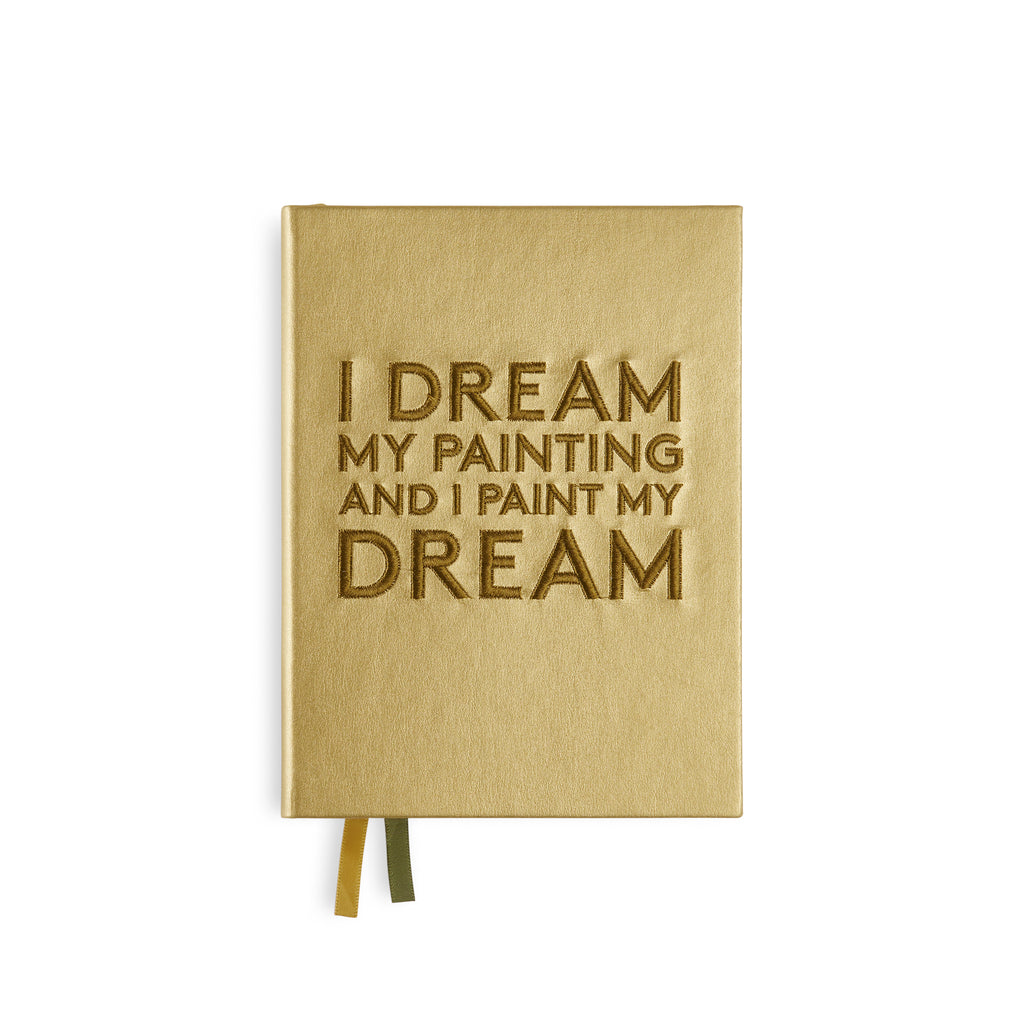 "Embroidered quote notebook - ""I dream my painting"" - BIEN moves"