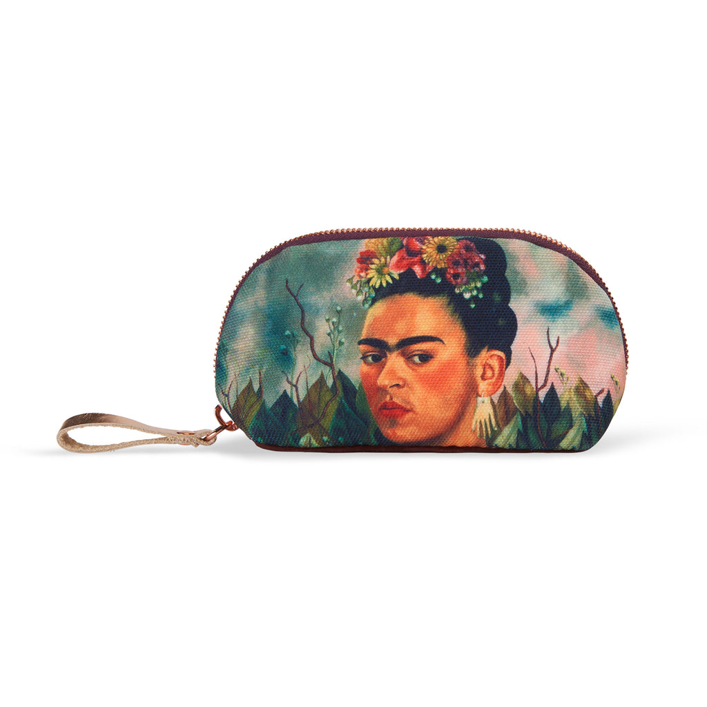 Small nylon-velvet makeup bag - Frida Kahlo