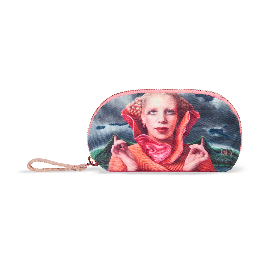 Small nylon-velvet makeup bag - Mathilde Willink
