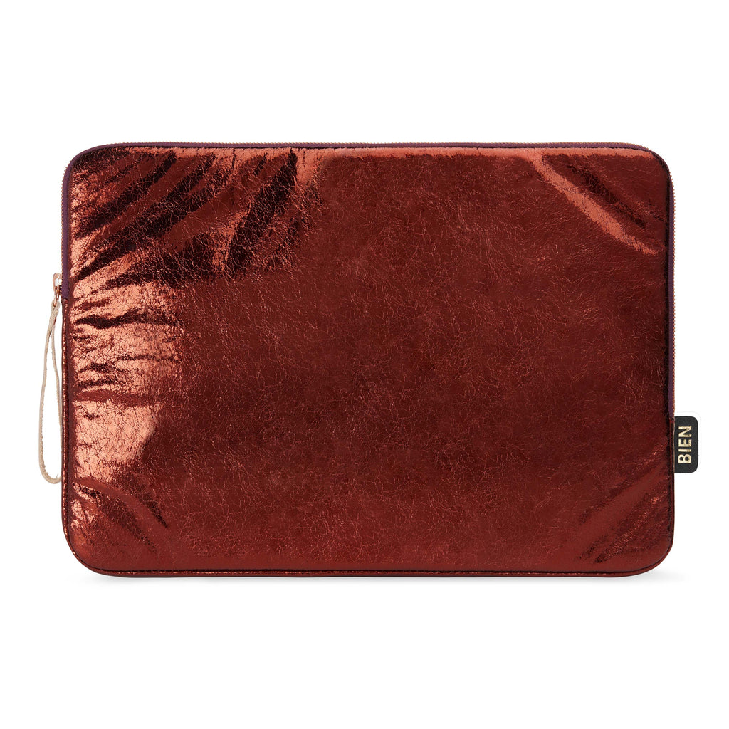 Laptop case 13-inch - Metallic burgundy