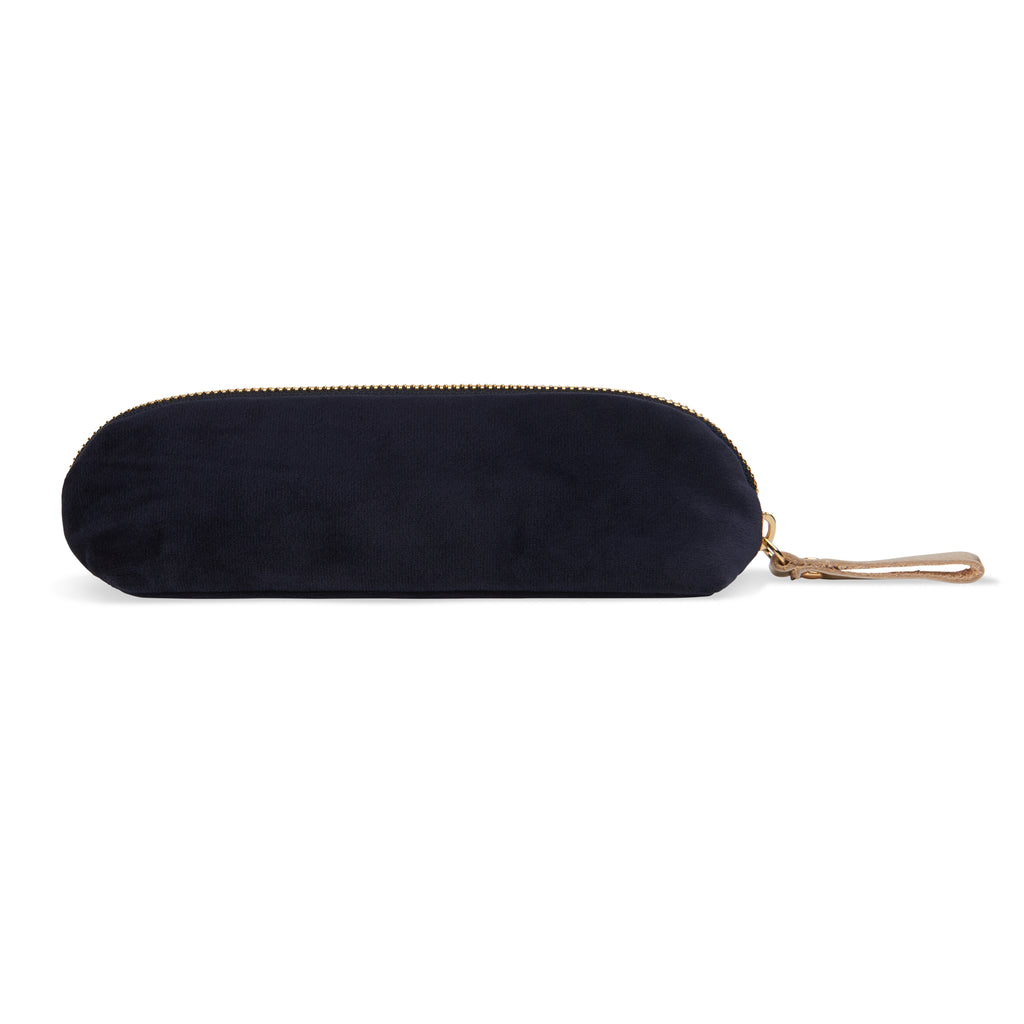Nylon-velvet pencil case - Water Lilies