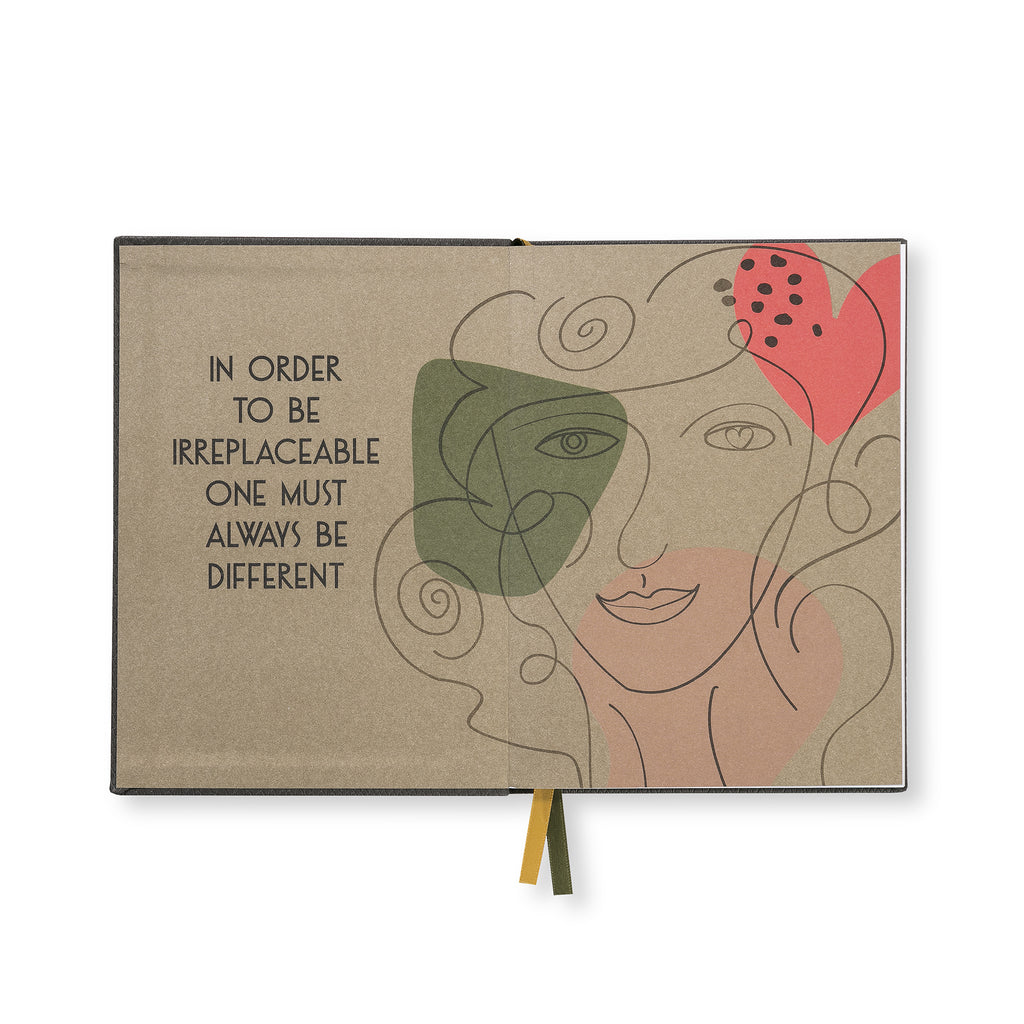 "Embroidered quote notebook - ""Nice Girls never get front row"" - BIEN moves"