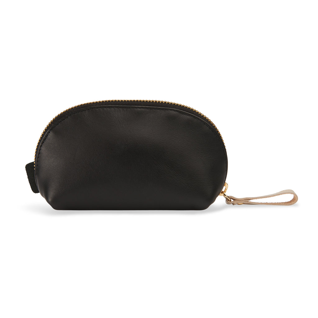 "Small leather makeup bag black - ""shake show shine"" - BIEN moves"