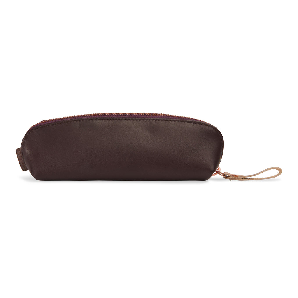 "Leather pencil case burgundy - ""sweet sexy spicy"" - BIEN moves"