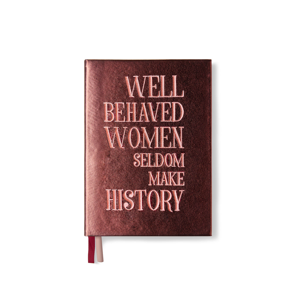 "Embroidered quote notebook - ""Well behaved women"""