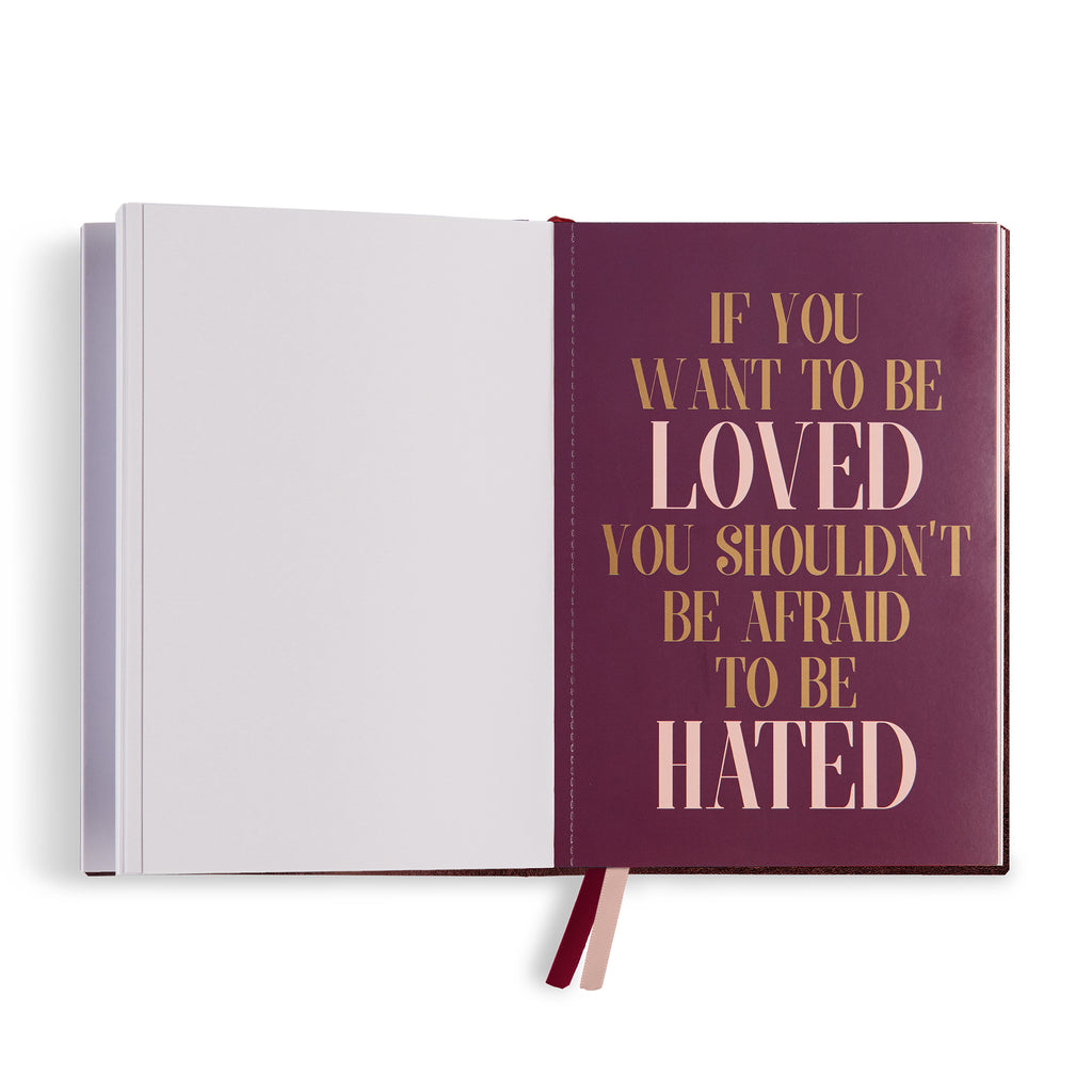 "Embroidered quote notebook - ""Well behaved women"" - BIEN moves"