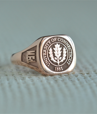 Custom Made University of Connecticut Class Ring-Minimalist Designs