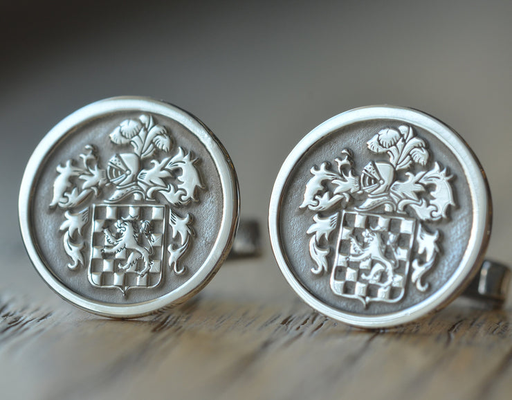 Personalized Family Crest Cufflinks-Minimalist Designs