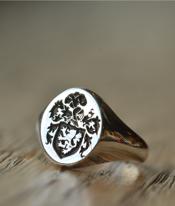 Personalized Coat of Arms Rings - Any Coat of Arms-Minimalist Designs