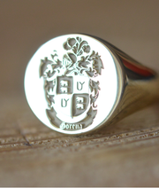 Custom Made Family Crest Ring - Gorena Crest - Any Crest-Minimalist Designs