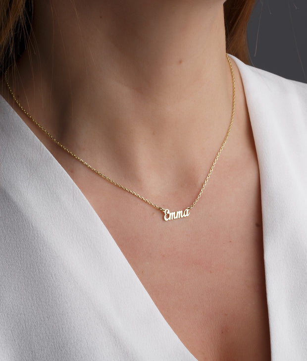 Personalized Tiny Name Necklace-Minimalist Designs