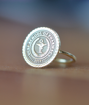 Custom Made College Ring - Any College-Minimalist Designs