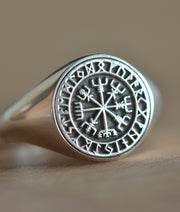 Custom Made Viking Vegvisir Ring-Minimalist Designs