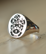 Custom Made Family Crest Ring - Beal Crest - Any Crest-Minimalist Designs