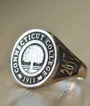 Custom Made College Ring - Connecticut College - Any College-Minimalist Designs