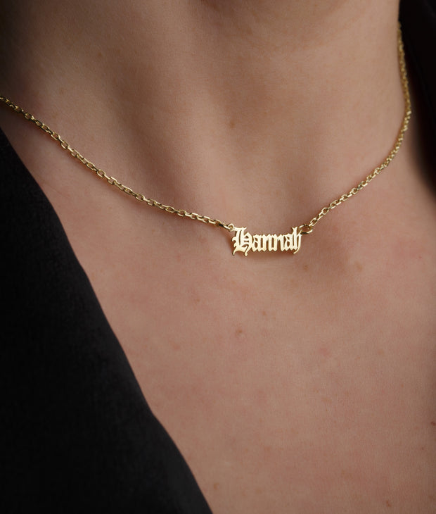 Personalized Gothic Style Name Necklace-Minimalist Designs