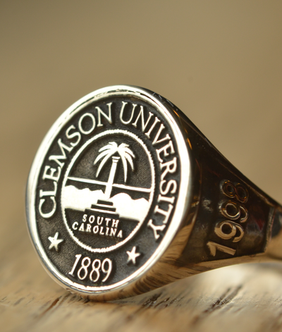 Custom Made Clemson University Class Ring - Any College-Minimalist Designs