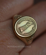 Custom Made University of Virginia Ring-Minimalist Designs