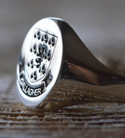 Custom Made Family Crest Ring - Gallagher Crest - Any Crest-Minimalist Designs