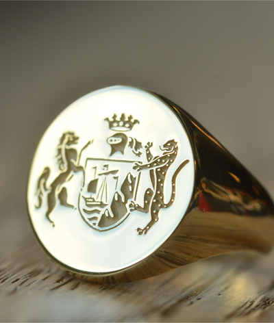 Round Family Crest Ring