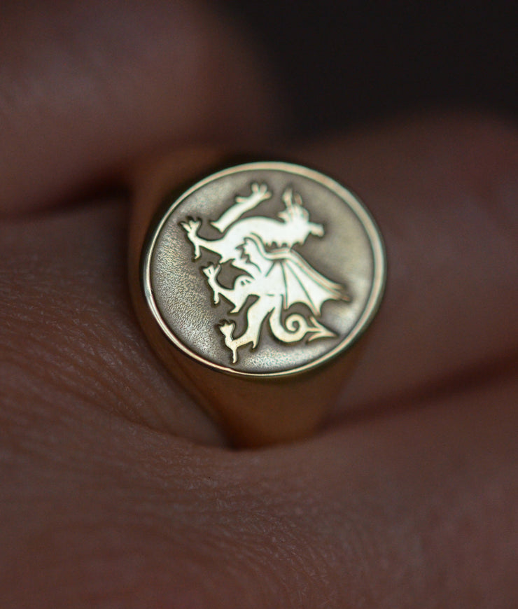 Welsh Dragon Ring-Minimalist Designs