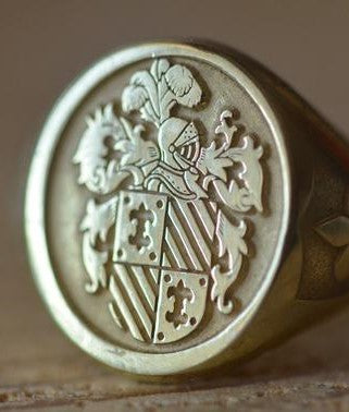 Personalized Family Crest Ring