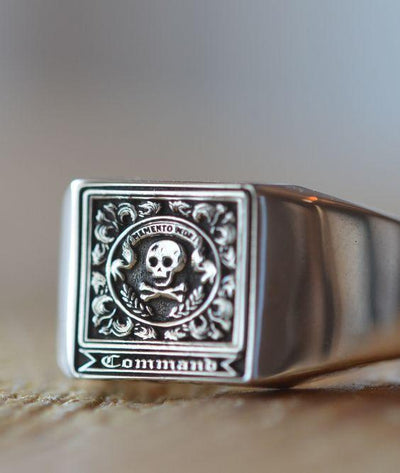 Solid Gold Memento Mori Ring