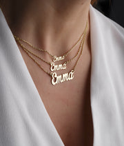 Personalized Name Necklace-Minimalist Designs
