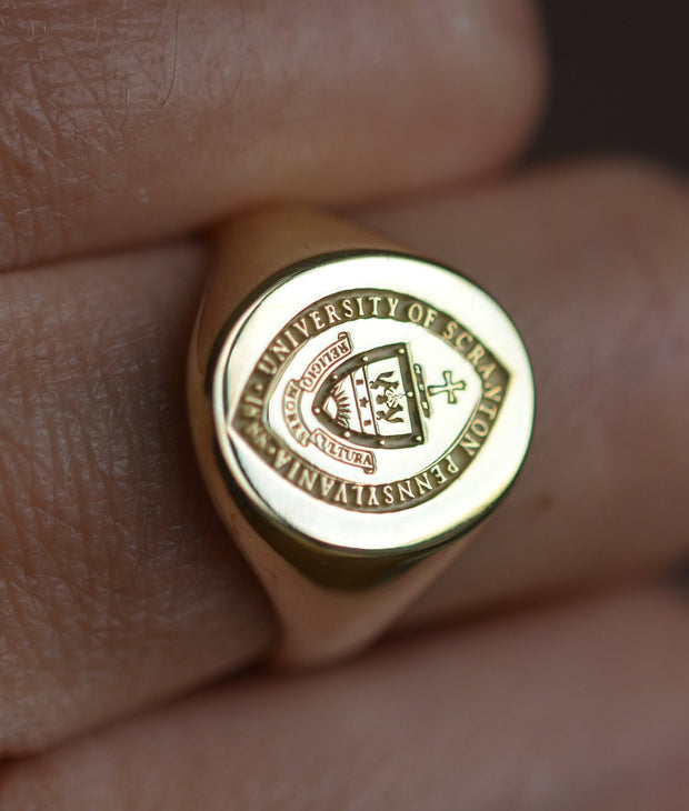 Custom Made College Ring - University of Scranton - Any College-Minimalist Designs
