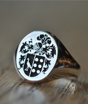 Custom Made Family Crest Ring - Any Crest-Minimalist Designs