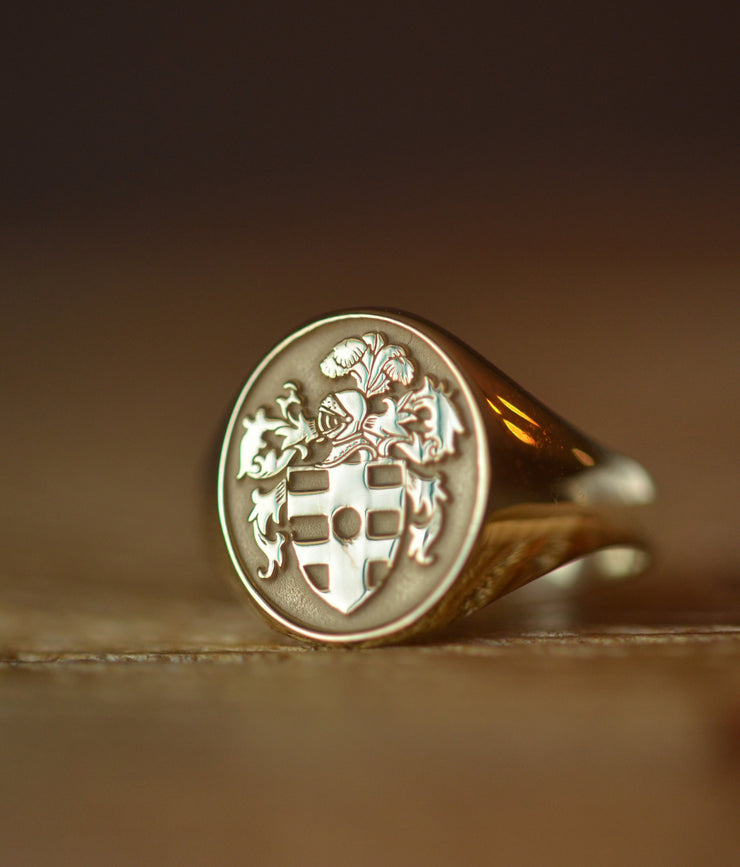 Personalized Coat of Arms Ring - Any Coat of Arms-Minimalist Designs
